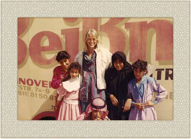 Sheila with Kuwaiti children