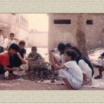 Qatif boys with oysters