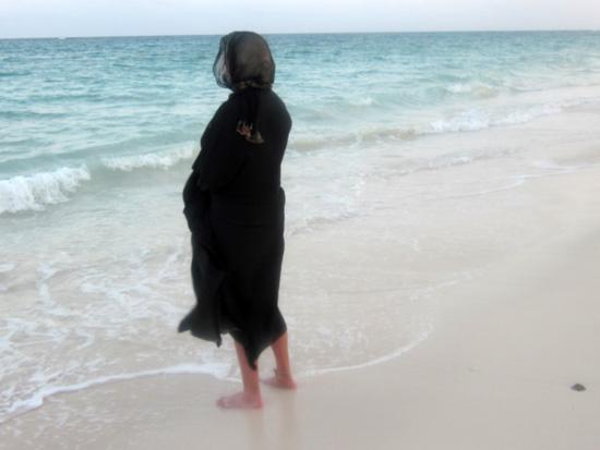 Abaya on Beach