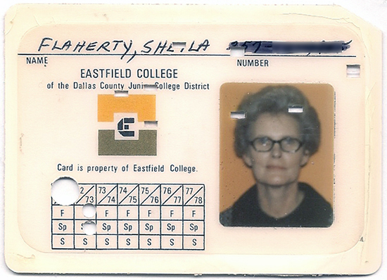 Mom's community college ID