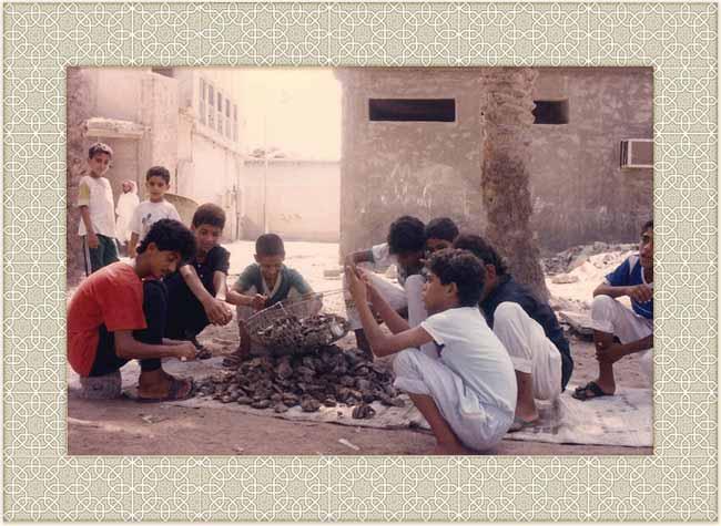 Qatif boys with oysters