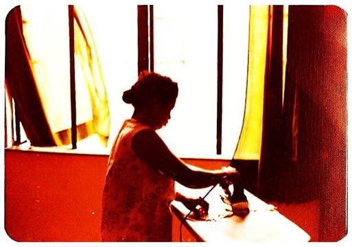 Amah ironing