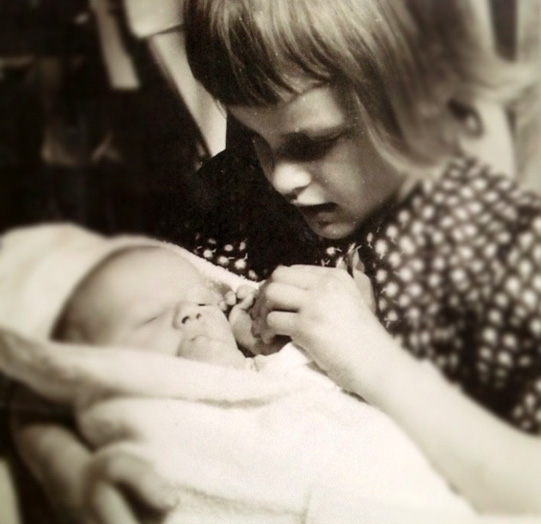 Me with my newborn brother, Joe. This is what 5 looks like.