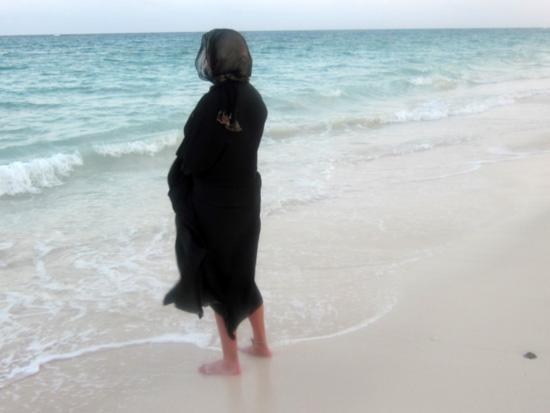 Abaya on Beach
